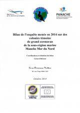 Bilan de l'enquête menée en 2014 sur des colonies témoins de grand cormoran de la sous-région marine Manche Mer du Nord