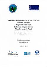 Bilan de l'enquête menée en 2016 sur des colonies témoins de grand cormoran de la sous-région marine Manche Mer du Nord