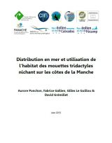 Etude : Distribution en mer et utilisation de l'habitat des mouettes tridactyles nichant sur les côtes de la Manche