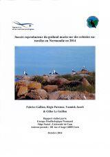 Bilan : Suivi 2014 du succès reproducteur du Goéland marin sur des colonies naturelles en Normandie