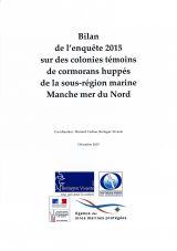 Bilan :  Suivi 2015 sur des colonies témoins de Cormorans huppés de la sous-région marine Manche - Mer du Nord
