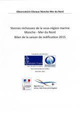 Bilan : Suivi 2015 de la nidification des sternes de la sous-région marine Manche - Mer du Nord