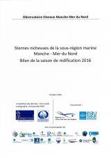 Bilan : Suivi 2016 de la reproduction des sternes nicheuses dans la sous-région marine Manche - Mer du Nord