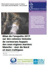 Bilan : Suivi 2017 sur les colonies témoins de Cormorans huppés des sous-régions marines Manches - Mer du Nord et Mer Celtiques
