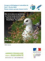 Bilan : Suivi 2019 de la reproduction du Fulmar boréal, de la Mouette tridactyle et des sternes sur le littoral Nord - Pas-de-Calais - 2019 - GON