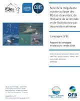 Rapport : Suivi de la mégafaune marine au large des PErtuis charentais, de l'Estuaire de la Gironde et de Rochebonne par observation aérienne - SPEE 2019