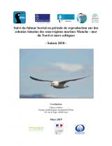 Bilan : Suivi 2018 de la reproduction du Fulmar boréal sur les colonies témoins des sous-régions marines Manche - Mer du Nord et Mer Celtique