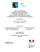 Bilan : Suivi 2018-2019 - Décomptes mensuels en mer en estuaire de Seine