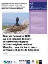 Bilan : Suivi 2020 sur des colonies témoins de Cormorans huppés des sous-régions marines Manche - Mer du Nord, Mer Celtique et golfe de Gascogne